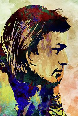 Pink Floyd Digital Art - David Gilmour. Pink Floyd. by Elizabeth Simon