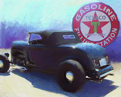 Digital Art - 32 Ford Roadster Texaco by David King