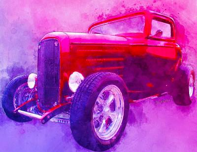 Digital Art - 32 Highboy Watercolour Deuce On Acid by Chas Sinklier
