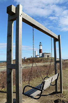 Photograph - Montauk Point Lighthouse Montauk New York by Bob Savage