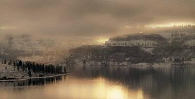 Blue Digital Art - Set Landscape by Victoria Landscapes