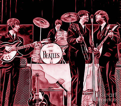 Beatles Mixed Media - The Beatles Collection by Marvin Blaine