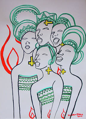 The Wise Virgins Art Print by Gloria Ssali