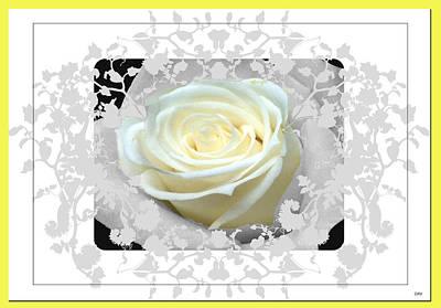 Invitation Mixed Media - Wedding Rose Collection  by Debra     Vatalaro