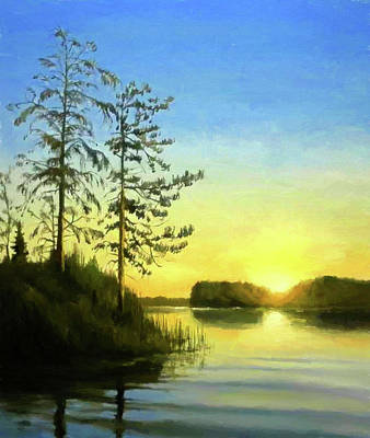Oil Painting - Nature Landscape Wall Art by Edna Wallen