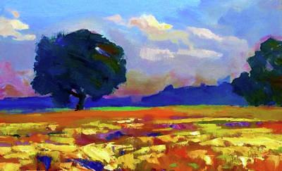 Landscape Painting - Nature Oil Canvas Landscape by Edna Wallen