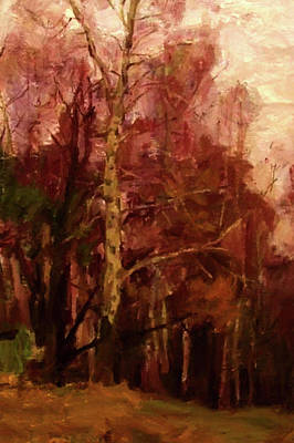 Outdoors Painting - Nature Oil Canvas Landscape by Edna Wallen