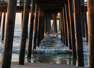 Jersey Photograph - 32nd Street Beach Avalon - Under The Pier by Bill Cannon