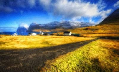 Oil Digital Art - Set Landscape by Victoria Landscapes