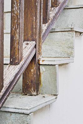Stair-rail Photograph - Stone Steps by Tom Gowanlock