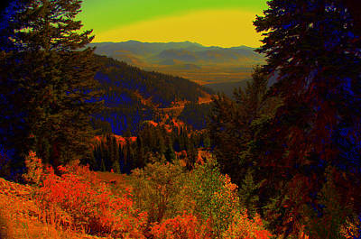 Yellowstone Digital Art - Yellowstone Park by Aron Chervin
