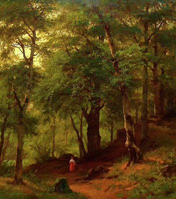 Outdoors Painting - Nature Landscape Nature by Edna Wallen
