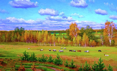Tree Painting - Nature Landscape Nature by Edna Wallen