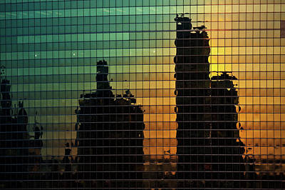 333 Wacker Reflecting Chicago Print by Steve Gadomski