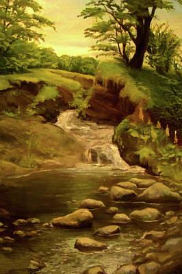 Park Painting - Nature Landscape Artwork by Edna Wallen