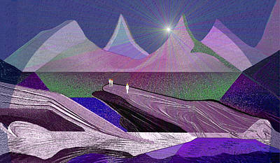 Twilight Zone Painting - 334 - Rocks by Irmgard Schoendorf Welch