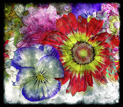 Painting - 33a Abstract Floral Painting Digital Expressionism Art by Ricardos Creations