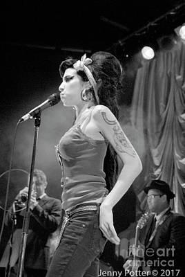 Photograph - Amy Winehouse  by Jenny Potter