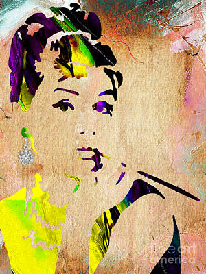Mixed Media - Audrey Hepburn Collection by Marvin Blaine