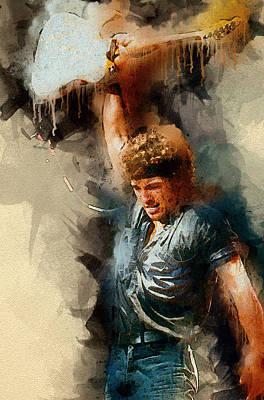 Rock And Roll Digital Art - Bruce Springsteen by Elizabeth Simon