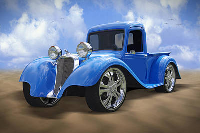 Dodge Truck Wall Art - Photograph - 34 Dodge Pickup by Mike McGlothlen