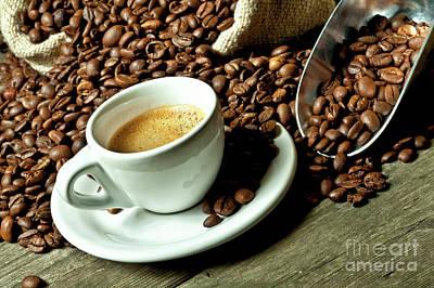 Photograph - Espresso And Coffee Grain by Gualtiero Boffi