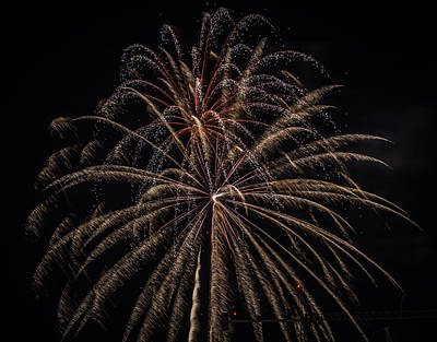 Photograph - Fireworks 2015 Sarasota 4 by Richard Goldman