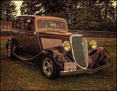 Photograph - Cool 34 Ford Four Door Sedan by Thom Zehrfeld