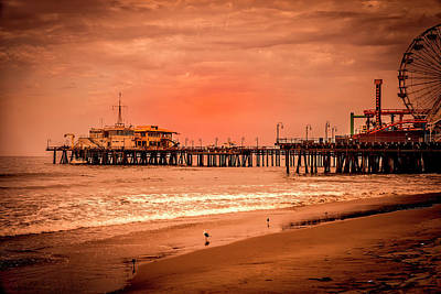 Photograph - Santa Monica Pier Collection- 26/36 by Gene Parks