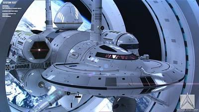 Transportation Digital Art - Star Trek by Super Lovely
