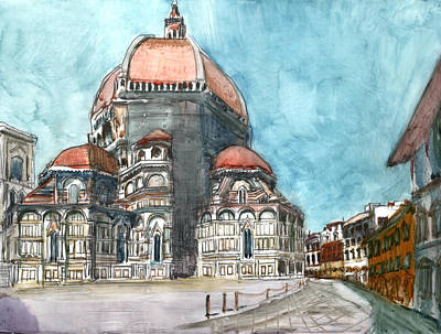 34 Via Del Proconsolo. Florence. Tuscany. Italy Art Print by Anthony Sell