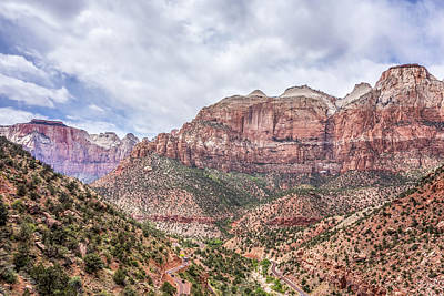 Photograph - Zion Canyon National Park Utah by Alex Grichenko
