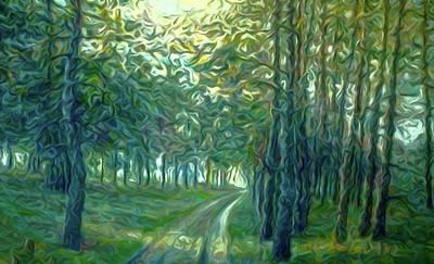 Sunrise Painting - Nature Art Landscape by Edna Wallen