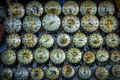Farm Life Paintings Rob Moline - 3421- Clocks by David Lange