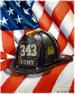 Fdny Painting - 343 by Paul Walsh