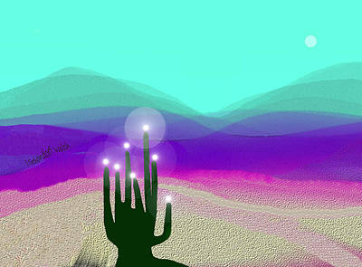 Digital Art - 348 - Desert Light 2017 by Irmgard Schoendorf Welch