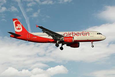 Berlin Photograph - Air Berlin Airbus A320-214 by Smart Aviation