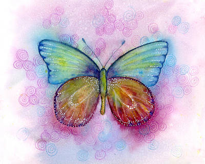 Painting - 35 Blessings Butterfly by Amy Kirkpatrick