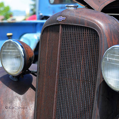 Photograph - 35 Chevy Truck Front by Kae Cheatham