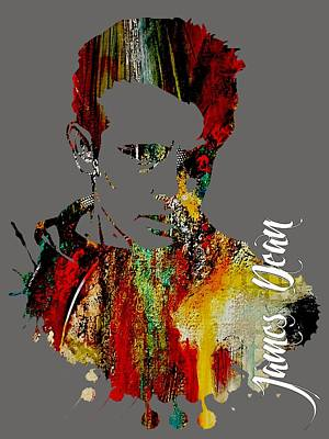 Retro Mixed Media - James Dean Collection by Marvin Blaine