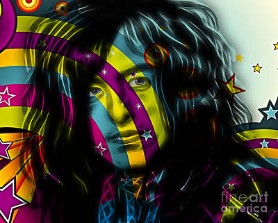 Jimmy Page Collection Art Print by Marvin Blaine