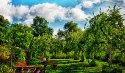 Summer Painting - Landscape On Nature by Margaret J Rocha