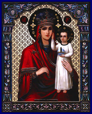 Mary And Child Art Print by Christian Art