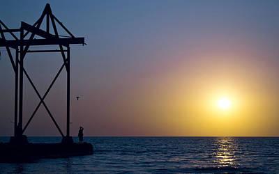 Sunset Digital Art - Ocean by Super Lovely