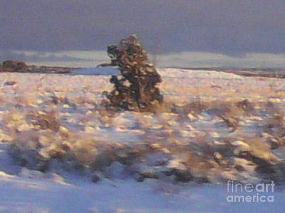 Snowy Desert Landscape Print by Frederick Holiday