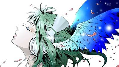 Curve Digital Art - Vocaloid by Maye Loeser