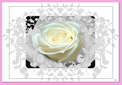 Invitations Mixed Media - Wedding Rose Collection  by Debra     Vatalaro
