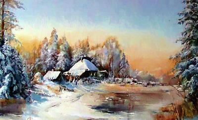Sunrise Painting - Nature Landscape Art by Edna Wallen