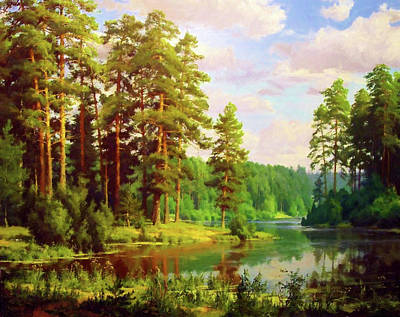 Tree Painting - Nature Landscape Paintings by Edna Wallen