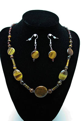 3510 Tiger Eye Set Original by Teresa Mucha